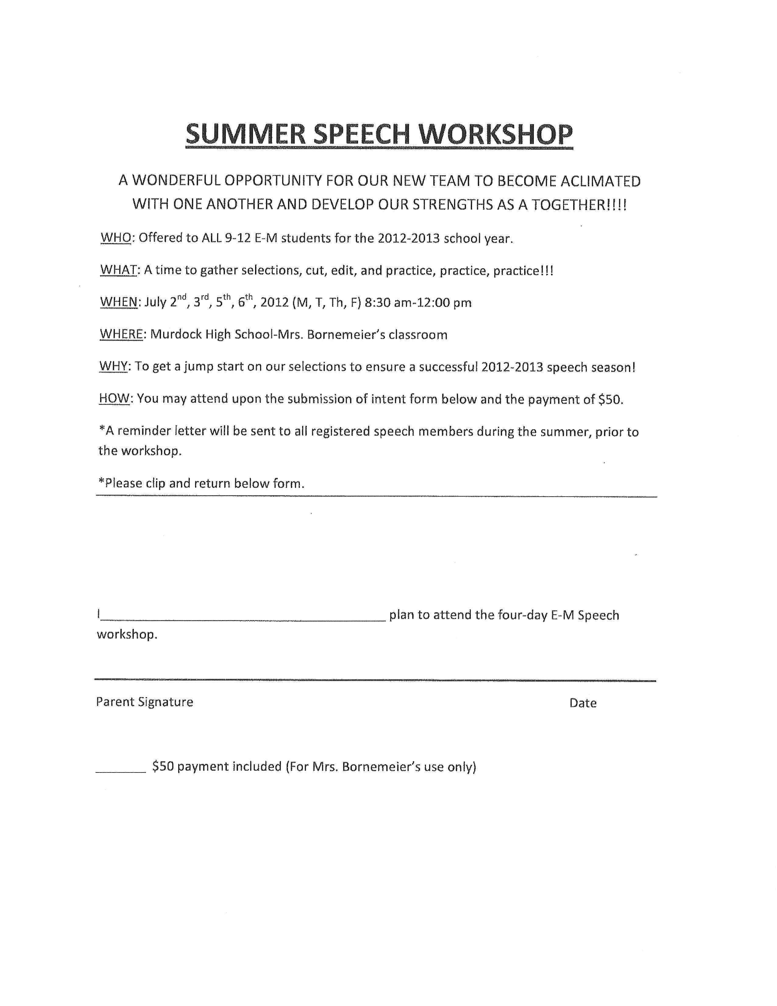 Speech camp