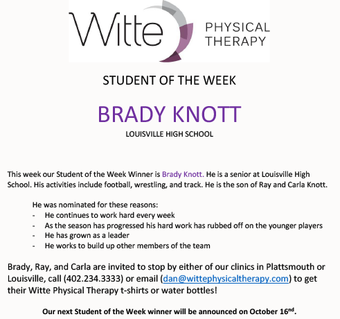 Student of the Week Selection 1