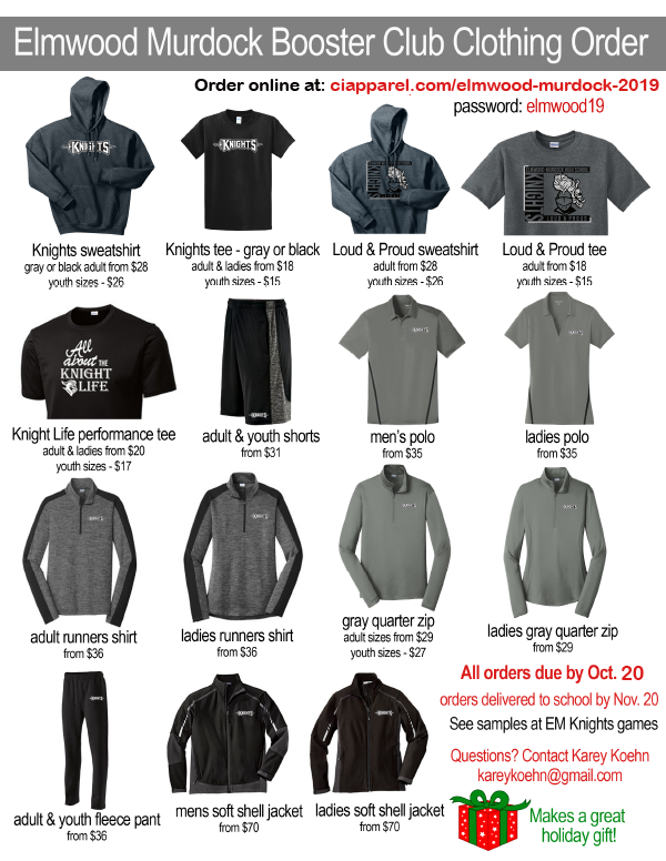 2019 Clothing Order Flyer for print updated link