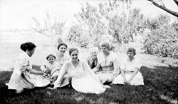 Girls on Grass Lawn img012SM